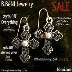 ♥Holiday Sales at bbeni.com♥ https://bbeni.com/collections/earrings/products/el-shaddai-cross-earrings #jewelry #earrings #fashion