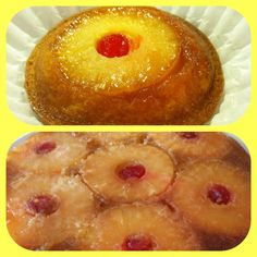 Home made pineapple upside down cake! I love making minis of every cake or pie I make. It allows me to offer my guest a variety of desserts without over whelming them with big pies & cakes; and they take up less counter space!