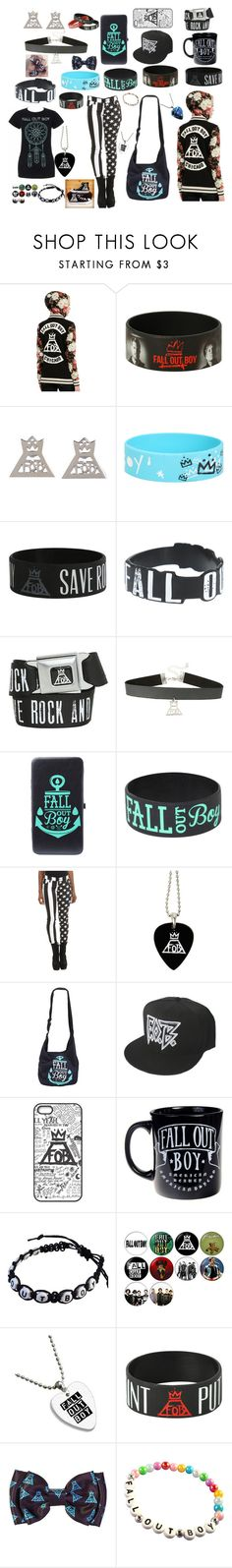 """Fall Out Boy"" by youngblooded-killjoys ❤ liked on Polyvore featuring Tripp, Converse and Warpaint"