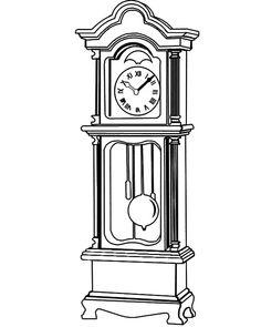 Grandfather Clock Beautiful Fretwork Coloring Pages : Color Luna Clock Art, Diy Clock, Clock Decor, Spitfire Tattoo, Grandfather Clock Tattoo, Clock Drawings, Art Drawings, September Wallpaper, Antique Clocks For Sale