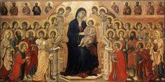 Maestà: recto (1308-1311; Siena, Museo dell'Opera del Duomo)