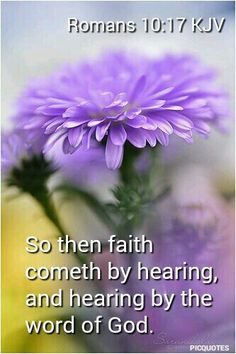"""Romans 10:17 KJV--- We cannot """"hear"""" unless we open His Word and ask Him to speak to our heart and mind. Do it today. - Jo Wilmer www.mwordsandthechristianwoman.com"""