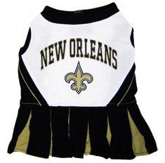 New Orleans Saints Dog Cheerleader Dress. Pet ClothesUniform ... 8887a6e97