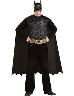 Bad Man Badman Fledermaus Held Helden Heroes Kostüm Overall Maske Cape Herren