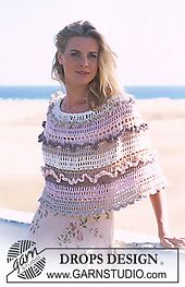 Ravelry: 90-23 Crocheted Poncho pattern by DROPS design