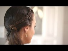 Front French Braid Create This Hairstyle || KIN BEAUTY - YouTube