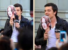 Is that a Katniss lollipop you have there, Josh?