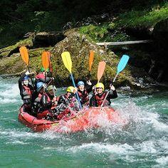 Teamspaß beim Rafting Rafting, Alps, Adventure