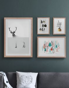 Combination of Typographie, Nature and Humour Wall Art for your seasonal home decoration!