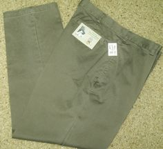 Mens GAP Sandwashed Plain Front Khakis Regular Leg Chino Pant 38 x 32 NEW w Tags #Gap #KhakisChinos