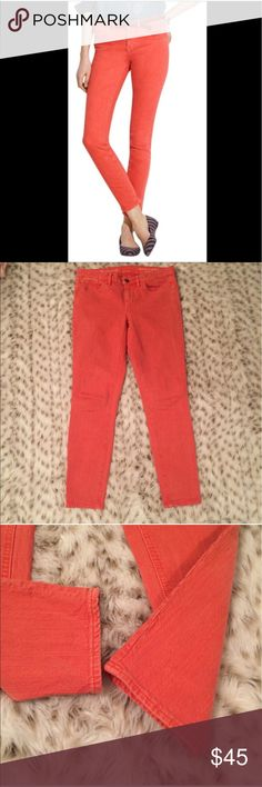 Madewell Skinny Skinny Ankle Pants ground paprika Madewell skinny skinny ankle jeans in ground paprika! Size 27, inseam is 28 inches ! Lovely Coral redish orange color by madewell called ground paprika! Used but still in great condition! Madewell Pants Ankle & Cropped