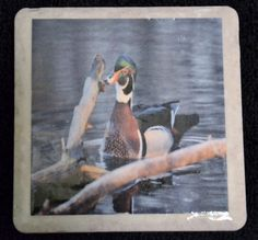 Coaster Wood Duck by TheCoasterMan on Etsy, $8.00