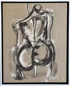Abstract Figure Study on Linen Canvas #haleymathewesart @haleymathewesart