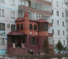 House On The Side Of A Building-Worst Construction Fails Construction Fails, Crowded House, Top 15, Small Castles, Chula, Amazing Buildings, Russia, Funny Pictures, Funny Images