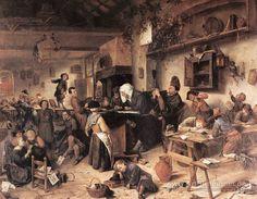 The Village School - Jan Steen  1670