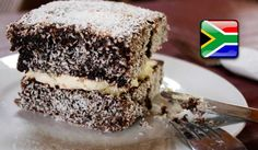 """In Australia, you will hear of locals speaking of """"National Lamington Day"""", which is a day that local charities sell mainly Lamington Cakes on, in an attempt to raise money and awareness. Australia's National Lamington Day is on the of July each year. Lamington Cake Recipe, Lamingtons Recipe, Salted Caramel Fudge, Salted Caramels, South African Recipes, Ethnic Recipes, Australian Accent, Oreo Cake, Russian Recipes"""