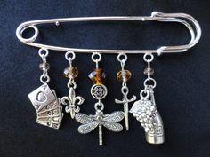 Dragonfly In Amber Inspired Kilt Pin
