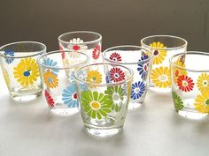 vintage sour cream glass daisy - Google Search