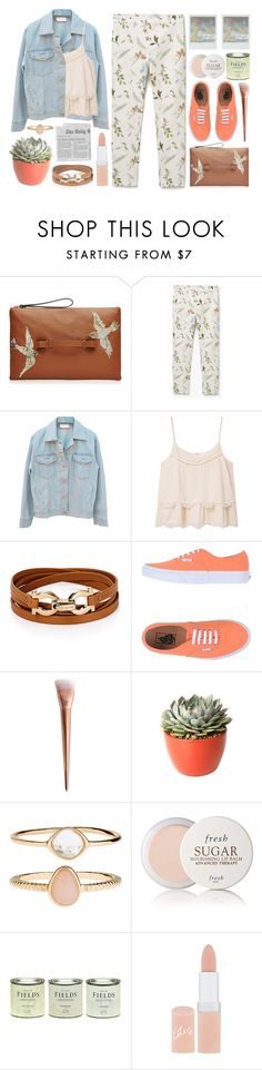 """""""Summer-Fall Transition Look"""" by lover-of-pie ❤ liked on Polyvore featuring RED Valentino, MANGO, Salvatore Ferragamo, Vans, PLANT, Accessorize, Fresh, LAND and Rimmel"""