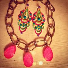 DIY necklace and new neon earrings