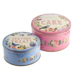 Get all nostalgic to the tune of a great British bake-off with these wonderful vintage cake tins!
