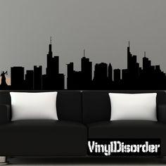 Frankfurt Germany Skyline Vinyl Wall Decal or Car Sticker SS117