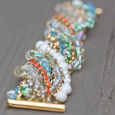 Multi strand beaded bracelet instructions