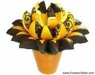 Chocolate dipped orange Fruit bouquet