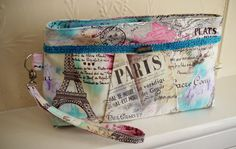Love Paris wristlet  on Etsy, £28.00