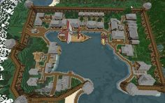 Old harbor spawn // QbicGaming, creation Wonderful layout Minecraft Kingdom, Minecraft Castle, Minecraft Medieval, Minecraft Plans, Minecraft Houses Blueprints, Minecraft House Designs, Minecraft Survival, Minecraft Tutorial, Minecraft Decorations