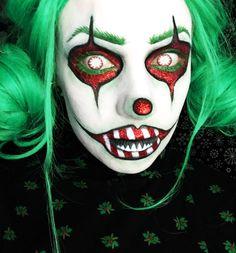 scary christmas clown makeup tutorial
