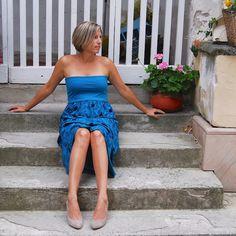 Bandeau Top mit Rock Bandeau Top, Blueberries, Organic Cotton, Strapless Dress, Rock, Dresses, Design, Fashion, Princess