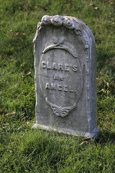 Marker- Claire's an Angel at the Greenwood Cemetery, Brooklyn, New York. http://www.thefuneralsource.org/cemny.html