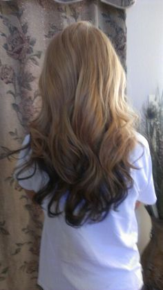 reverse ombre. i kinda already have this going on naturally but i think it would be cool to intensify it :) maaaayyybee