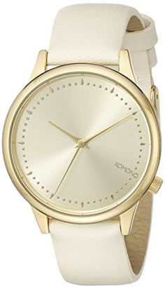 KOMONO Women's KOM-W2502 Estelle Pastel Series Analog Display Japanese Quartz Beige Watch Komono