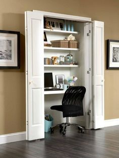 Contemporary Home Office Closet Desk Design, Pictures, Remodel, Decor and Ideas - page 2