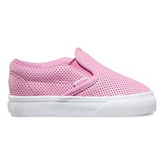 The Perf Leather Classic Slip-On features low profile slip-on perforated leather uppers, padded collars, elastic side accents, and signature rubber waffle outsoles.