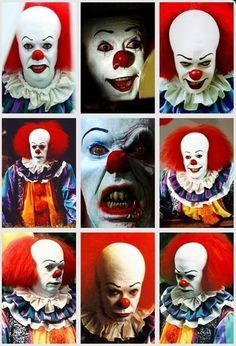 Horror Movies - Pennywise---> my all time favorite clown Best Horror Movies, Classic Horror Movies, Scary Movies, Horror Movie Characters, Le Clown, Creepy Clown, It The Clown, Clown Faces, Arte Horror