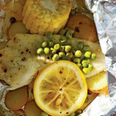 Fish, Potato and Corn Packets (Both BBQ and Campfire Directions).