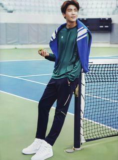 "ZE:A's Hyungsik Is a Stylish Tennis Player for ""CeCi"" Magazine Park Hyung Sik, Strong Girls, Strong Women, Asian Actors, Korean Actors, Asian Boys, Asian Men, K Pop, Ahn Min Hyuk"