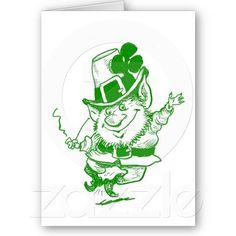 Green Leprechaun Cards
