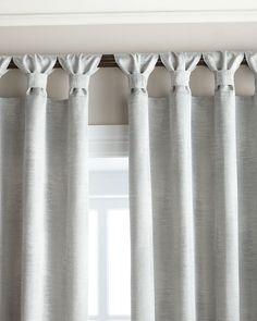 "Two 52""W x 108""L Echo Curtains"