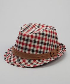 Sporting a trendy pattern and stylish colors, this fedora makes a big-city fashion statement while protecting a little one's noggin. The classic silhouette will have them looking undeniably dapper during their urban explorations.
