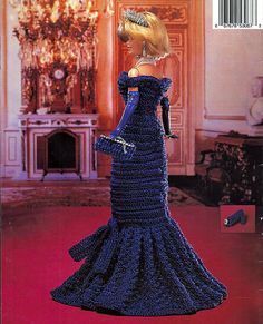 Princess Diana 1985 White House Dance Dresss Crochet Collector Costume Volume 56 Fashion Doll  Crochet Pattern. back cover