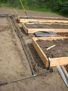 Raised Bed Drip Irrigation Design | so here is the set up right after water from