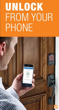 You talk, it listens.  Unlock your door using your iPhone.  The Aged Bronze finish on Schlage's Sense™ Smart Deadbolt is a beautiful way to add style and security to your home. See it at The Home Depot.