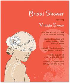 Bride Portrait Sketches Bridal Shower Invitation Cards HPB145 Bride Portrait, Portrait Sketches, Response Cards, Text Color, Bridal Shower Invitations, Invitation Cards, Colorful Backgrounds, Bridesmaid, Prints