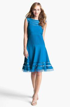 Tadashi Shoji Sleeveless Mesh Stripe Jersey Dress available at #Nordstrom