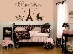 Paris themed nursery...so chic