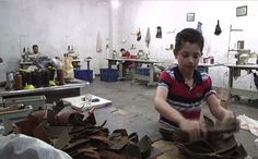 (AP) - It's another working day at this sewing workshop in Gaziantep. Some of these workers should be at school.  But instead of sitting in class, the Syrian child refugees are making trousers.  They are forced to earn a living to support their families.  According to UNICEF, more than half of...